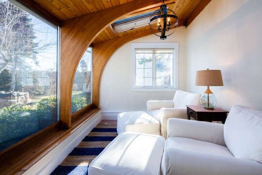 Tranquil sitting area off of the master bedroom - 55 Lime Hill Chatham Cape Cod - New England Vacation Rentals