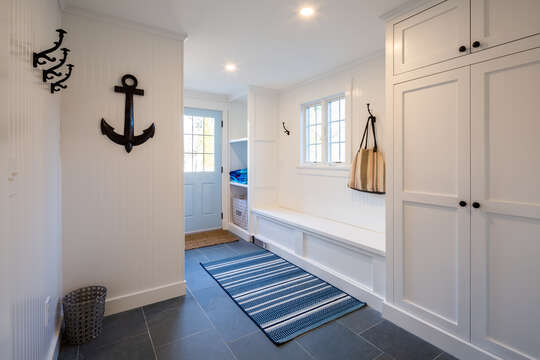 Light and bright mud room with laundry - 55 Lime Hill Chatham Cape Cod - New England Vacation Rentals