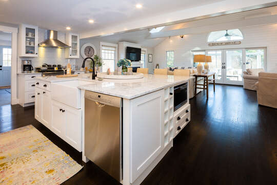 The kitchen is the heart of the home - 55 Lime Hill Chatham Cape Cod - New England Vacation Rentals