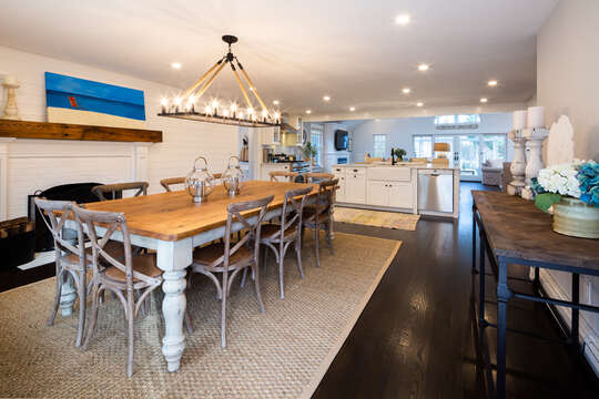 The dining table seats 10! - 55 Lime Hill Chatham Cape Cod - New England Vacation Rentals