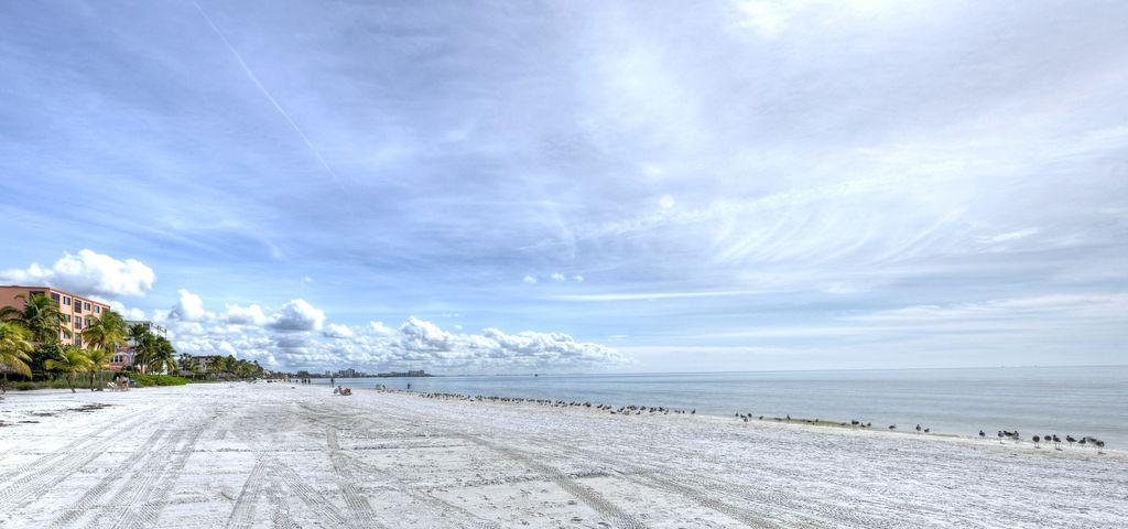 large sandy beach