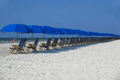 Umbrellas and chairs to rent