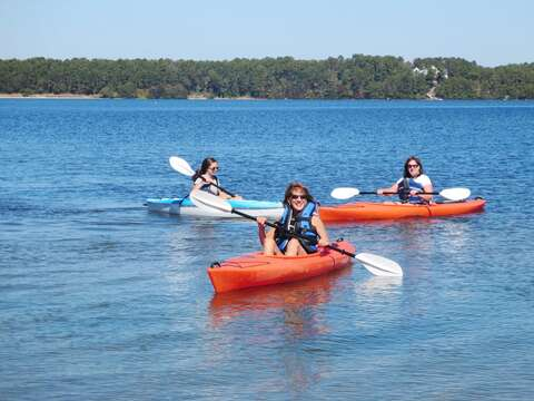 Long Pond is great for kayaking and swimming- Deeded access from the house allows for a very short walk -Harwich Cape Cod - New England Vacation Rentals