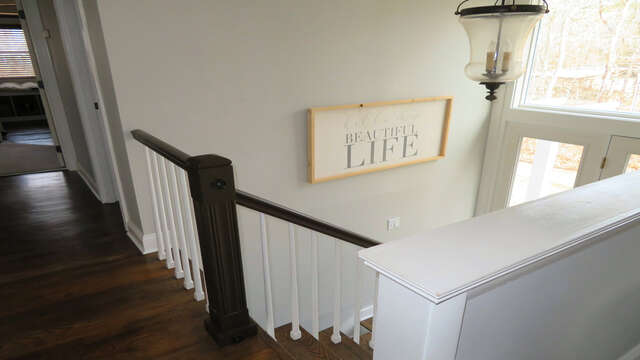 Stairs leading to lower level - 10 Seventh Street Harwich Cape Cod - New England Vacation Rentals