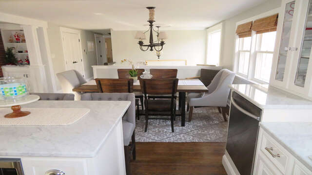 View of open dining area from kitchen - 10 Seventh Street Harwich Cape Cod - New England Vacation Rentals