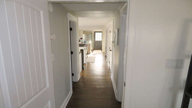 View down upper level hallway from kitchen entrance - 10 Seventh Street Harwich Cape Cod - New England Vacation Rentals