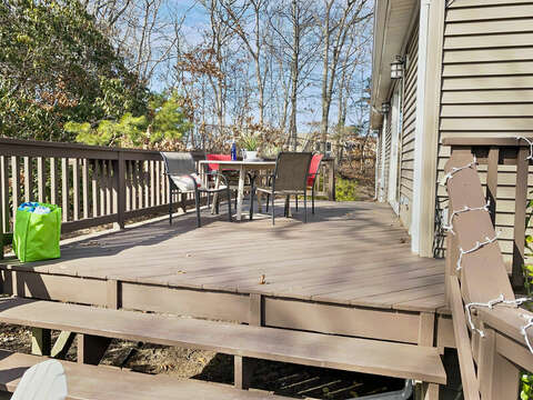 Large two-tier deck for entertaining - 10 Seventh Street Harwich Cape Cod - New England Vacation Rentals