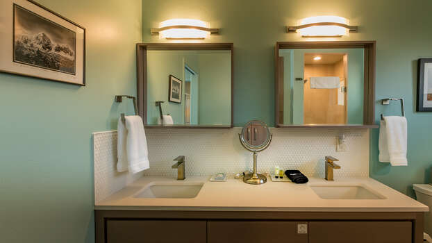 Dual Vanities in Bathroom