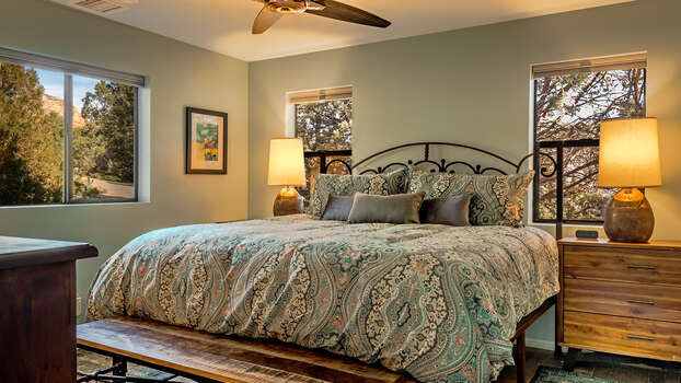 Master Bedroom Suite with Plush King Bed