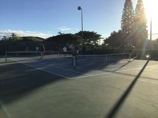 Waikoloa community tennis courts