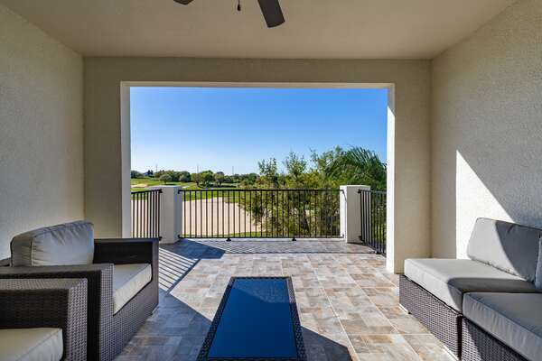 Enjoy views from the patio, 2nd and 3rd floor balconies of the gold course and Reunion Grande