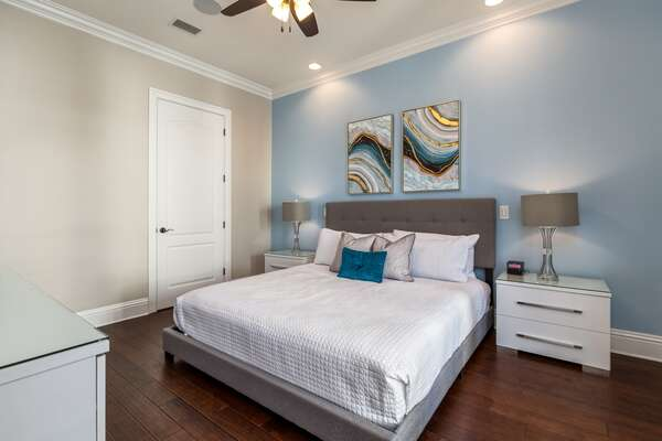 This luxurious master suite is located on the first floor