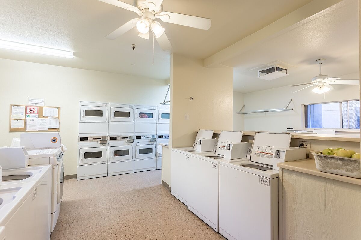 Coin operated laundry in Community Home does not have washer/dryer in unit