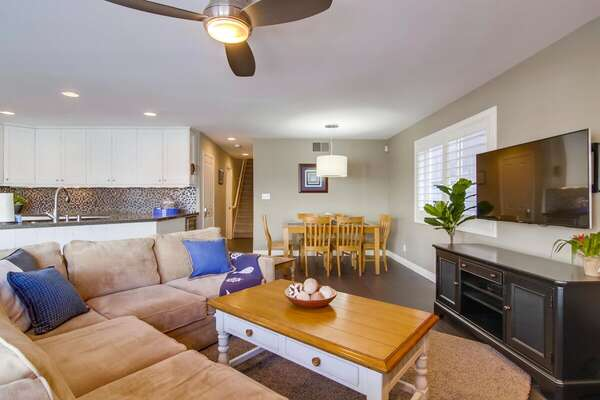 Comfortable Furniture and an Open Floor Plan Make This Condo Inviting