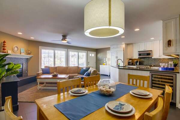 Dining Area and Wine Cooler in our San Diego Condo Rental