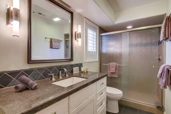 First Floor Full Bath in our San Diego Condo Rental