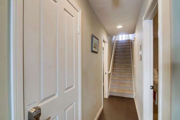 Stairwell to Second Level of our San Diego Condo Rental