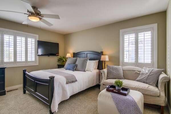 Second Floor Master Bedroom with a Queen Bed