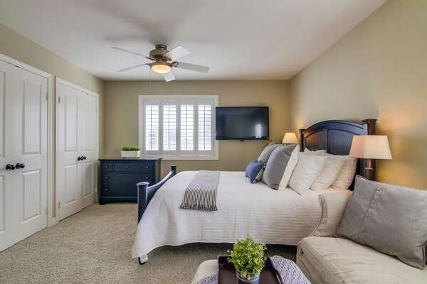 Master Bedroom with a Queen Bed on the Second Floor