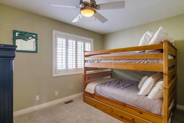 Bunk Room, Full/Full Bunk + Twin Trundle - Second Floor