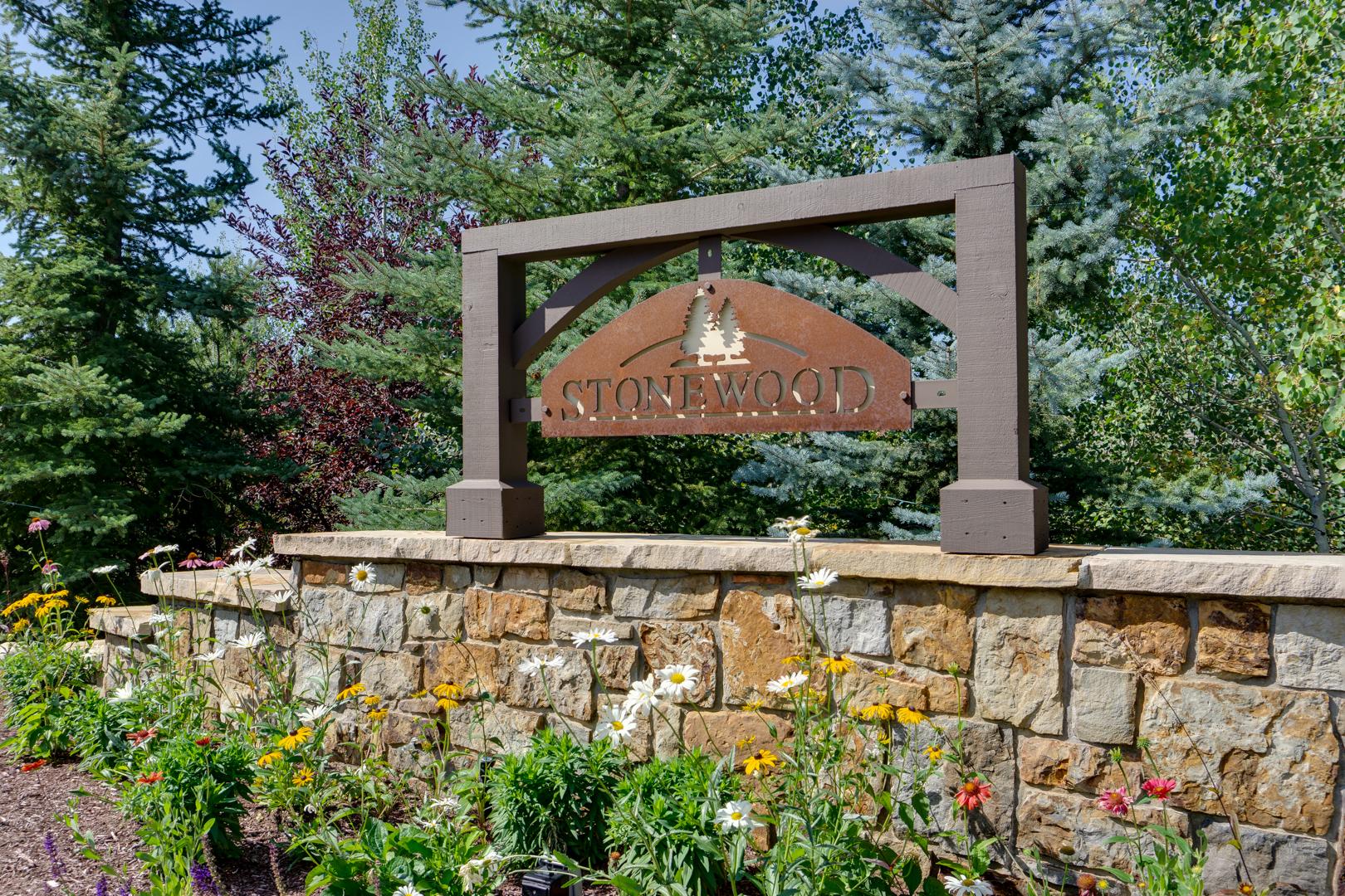 Stonewood Entrance Sign.