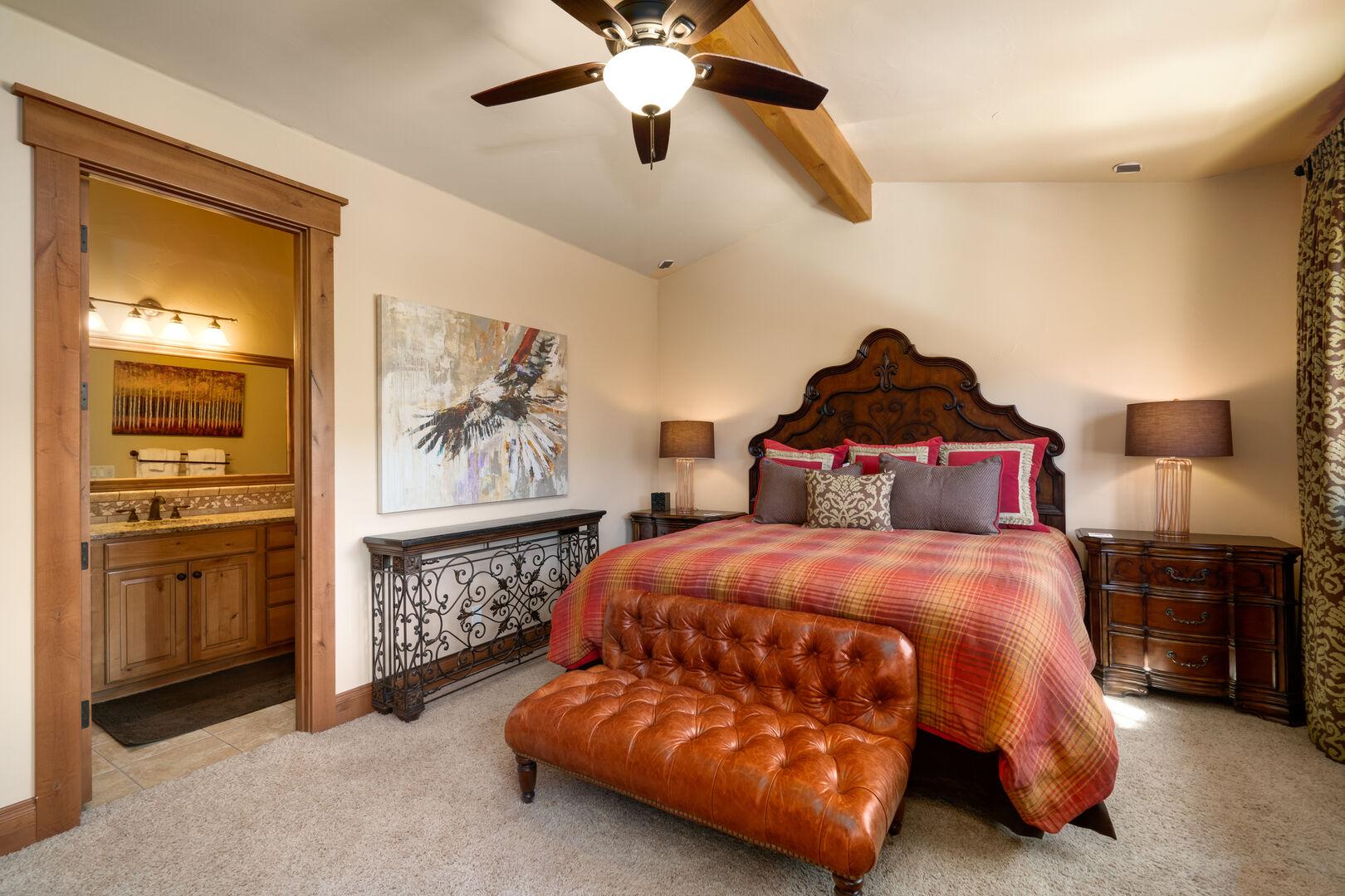 Upper level king bedroom.