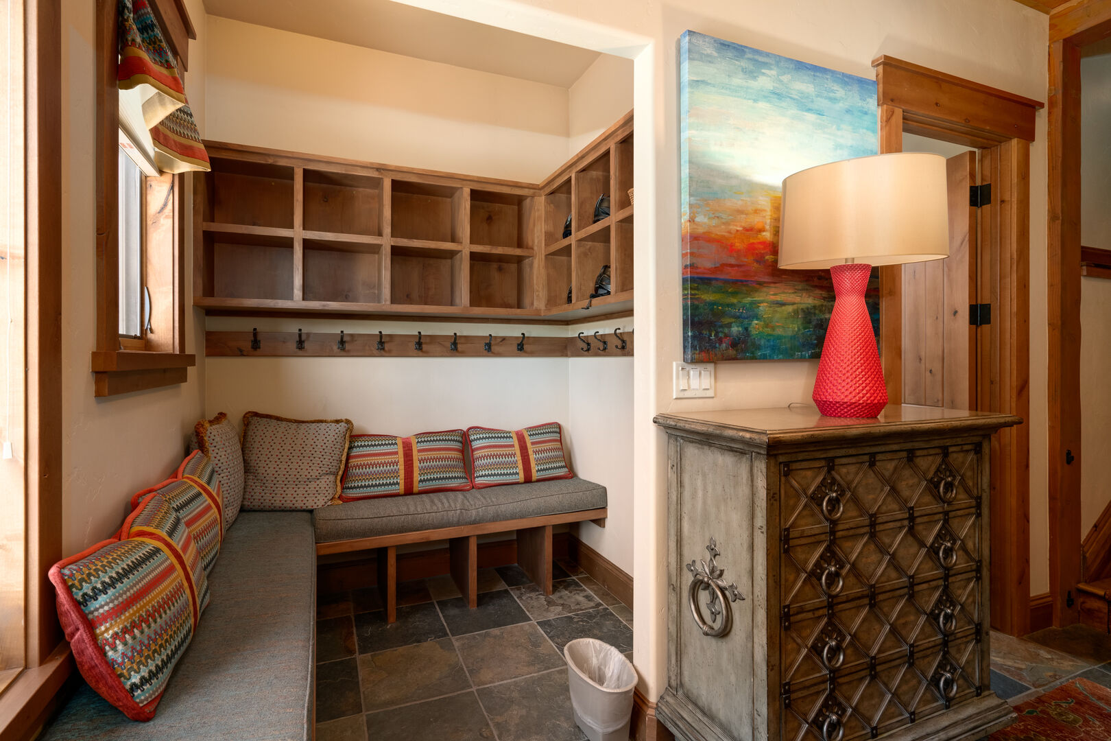 Entryway with cubbies to keep everyone organized!