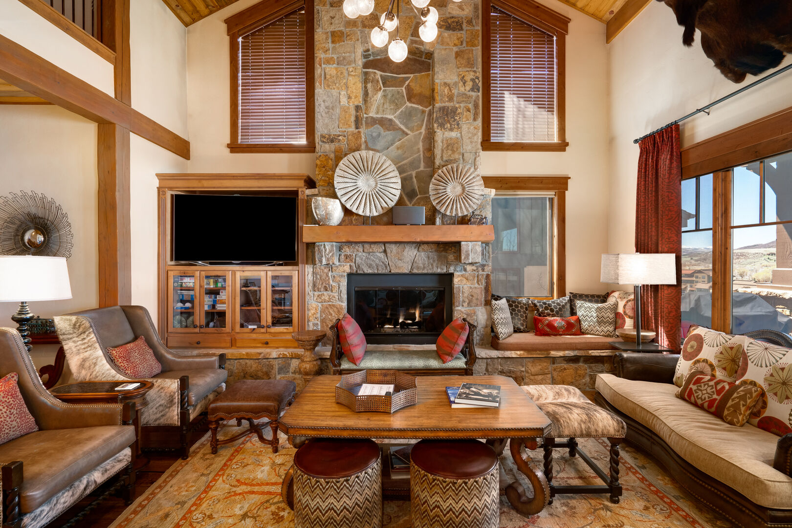 Abundant cozy seating in the living space.