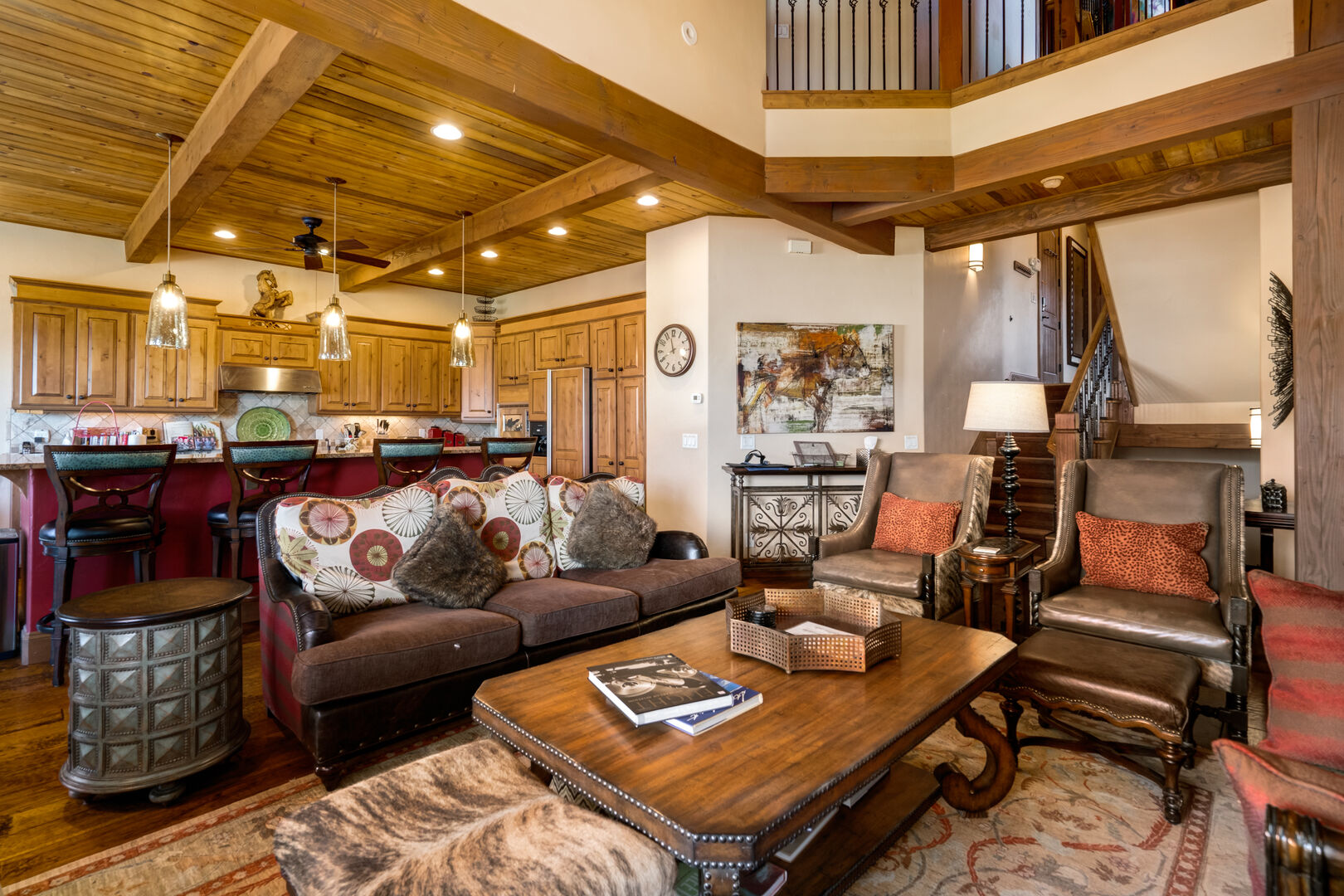 Open 2 story living space