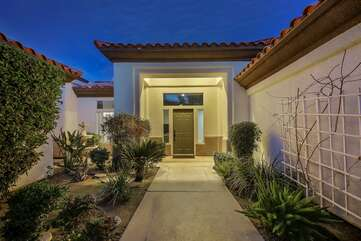 Large gated front courtyard