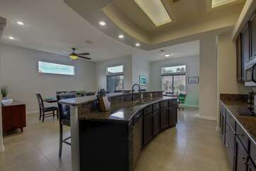 Huge convenient kitchen island