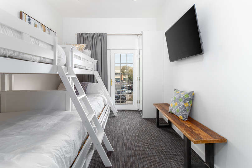Two Bunk Beds Featured in Bedroom of Luxury Vacation Rental in Scottsdale.