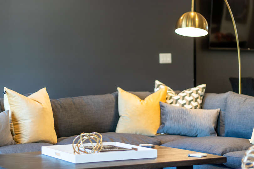 Image of Gold Accents Featured Throughout Home.
