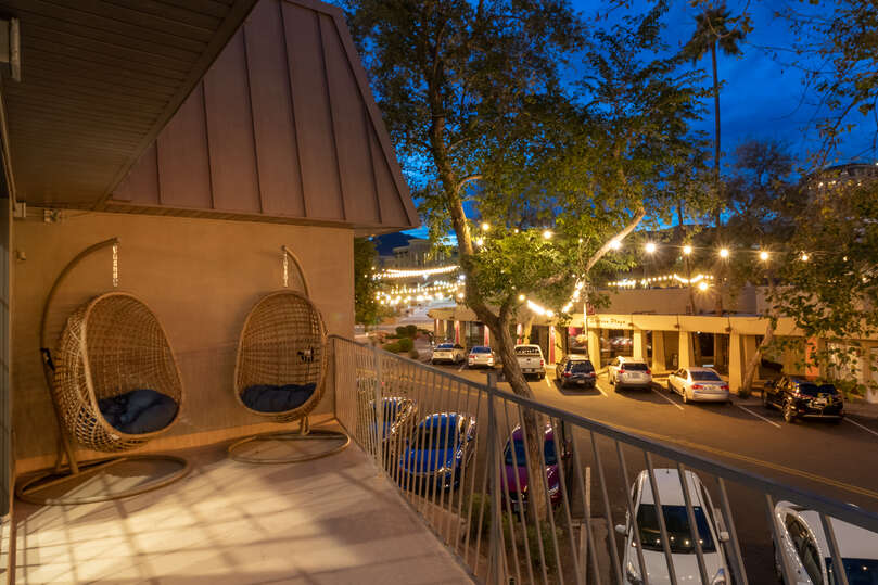 Large Patio Attached to Luxury Vacation Rental in Scottsdale.
