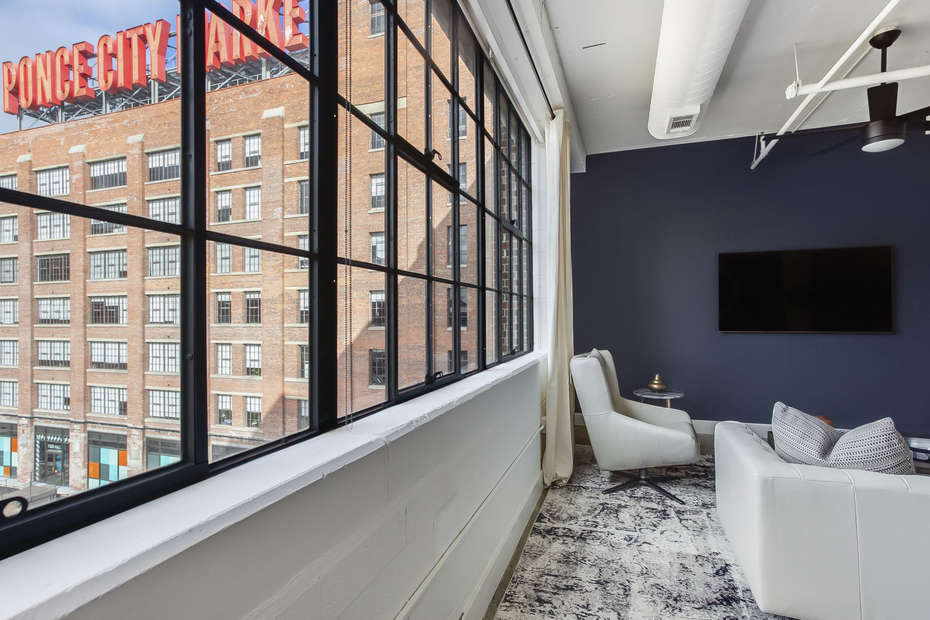 Huge Window with Great Views in our Ponce Apartment in Atlanta