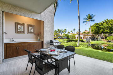 Spacious lanai includes private BBQ & Outside dining