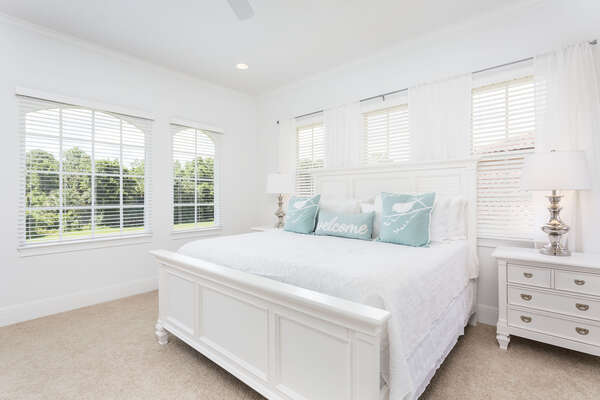 Sleep easy in this dreamy, modern second floor master bedroom