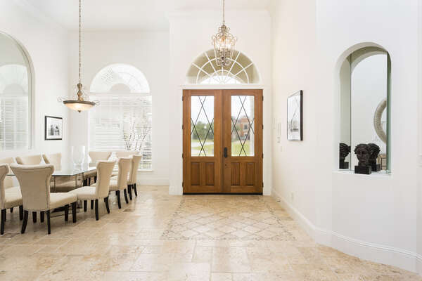 Exquisite foyer and dining area