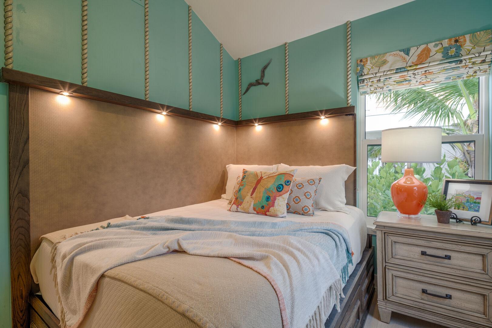 Bedroom with Beach Decor at Beach Rental Fort Myers Beach