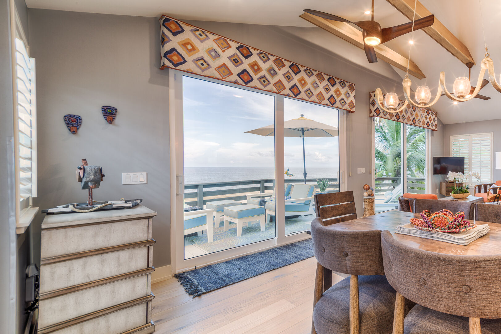 Dining Area and Patio at Beach Rental Fort Myers Beach