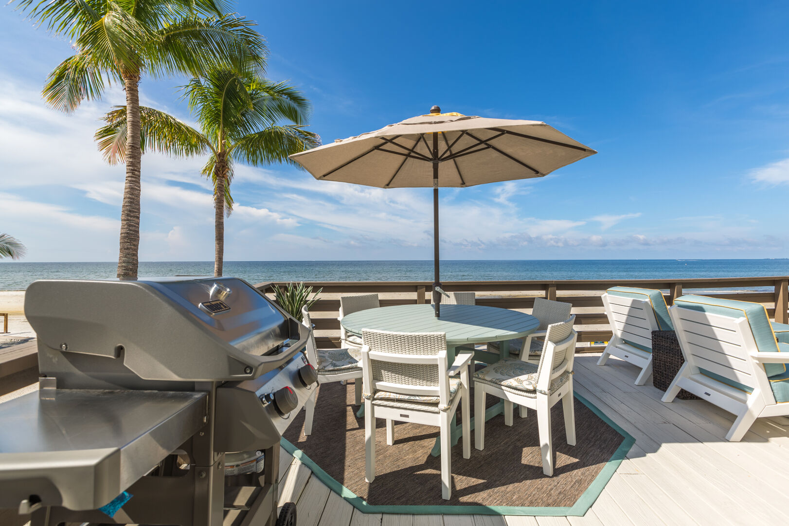 Grill and Patio at Beach Rental Fort Myers Beach