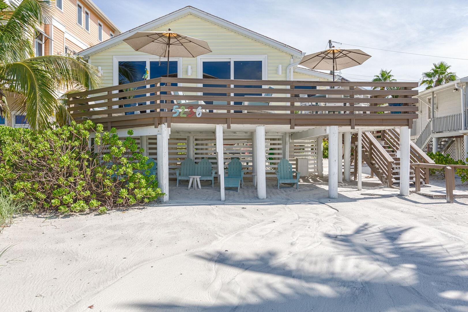 Walk-Out Beach Patio at Beach Rental Fort Myers Beach