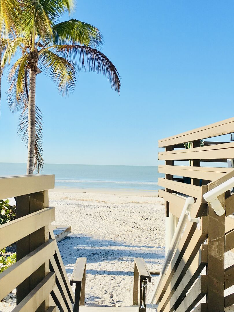 Stairs Down to Fort Myers Beach