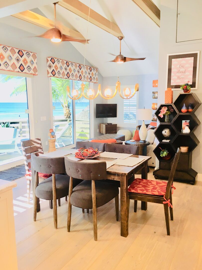 Dining Area at Beach Rental Fort Myers Beach