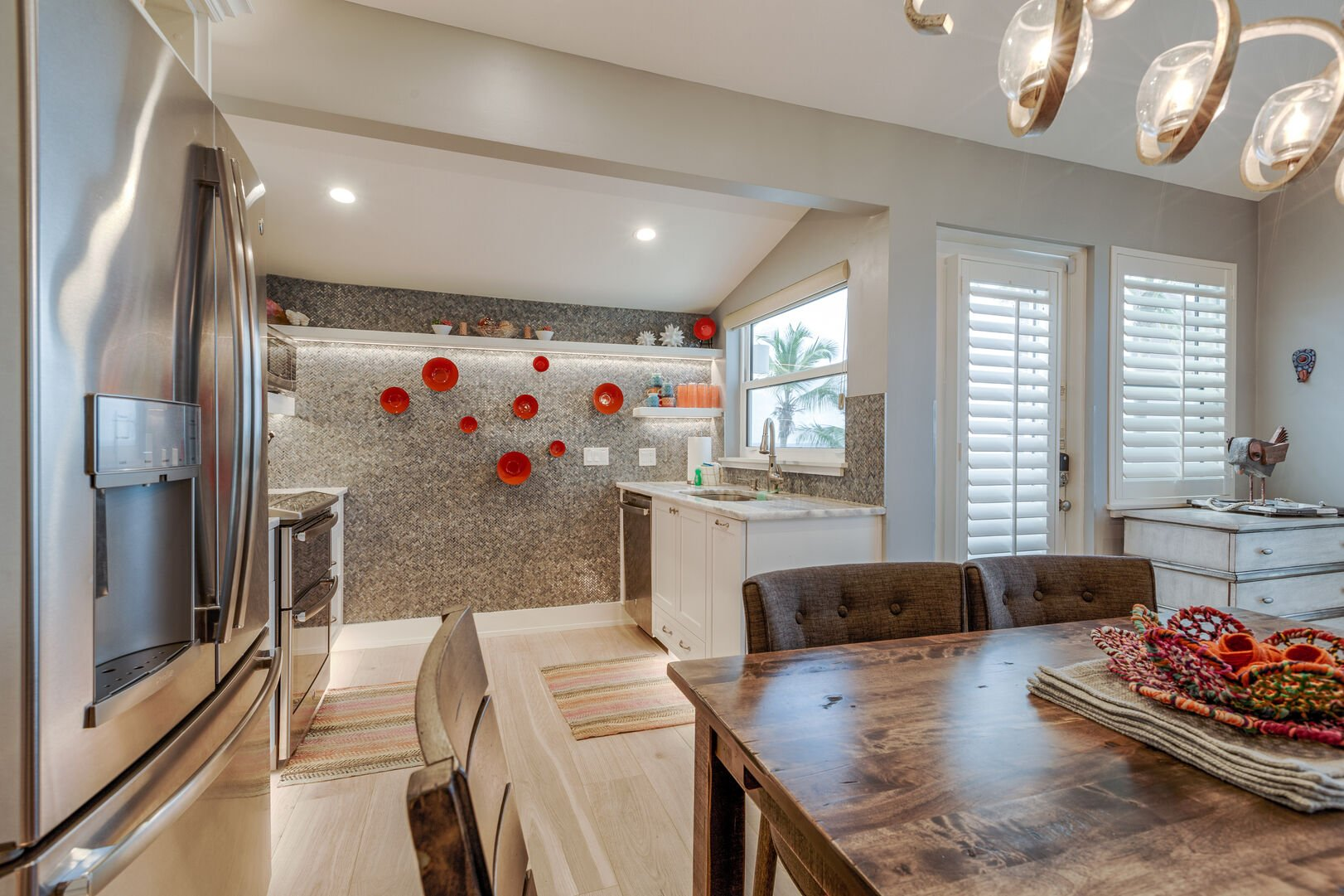 Dining Area and Kitchen at Beach Rental Fort Myers Beach