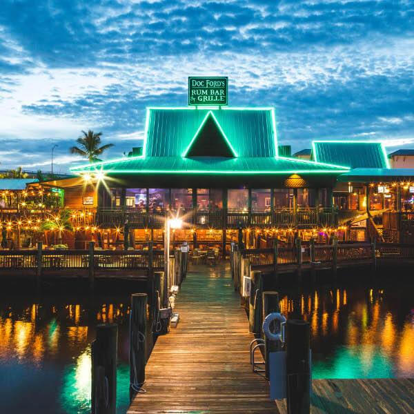 Numerous Restaurant's on the island