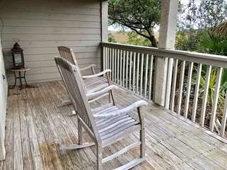 Enjoy relaxing on the private deck