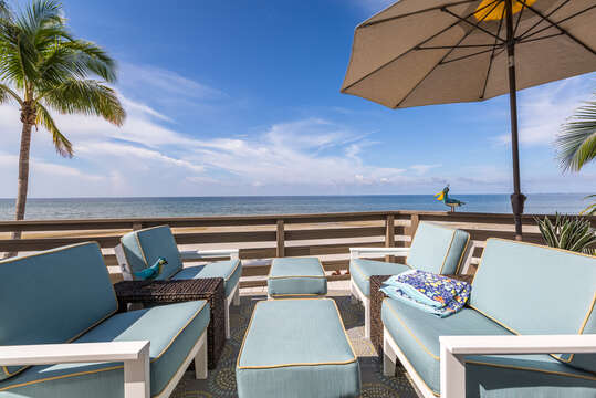 Patio at Beach Rental Fort Myers Beach