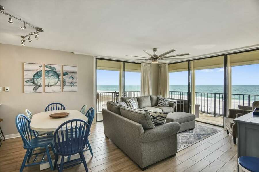 You can enjoy a wonderful view from just about anywhere in condo.