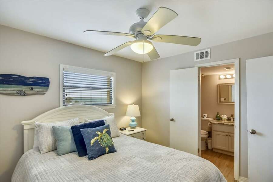 Guest Room has a Queen Size bed and private full bath.